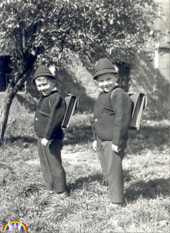 Rudy & Gery am ersten Schultag RGR