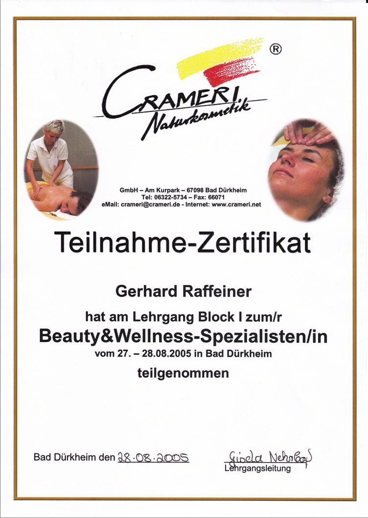 Beauty & Wellness Spezialisten Dekret Gery RGR