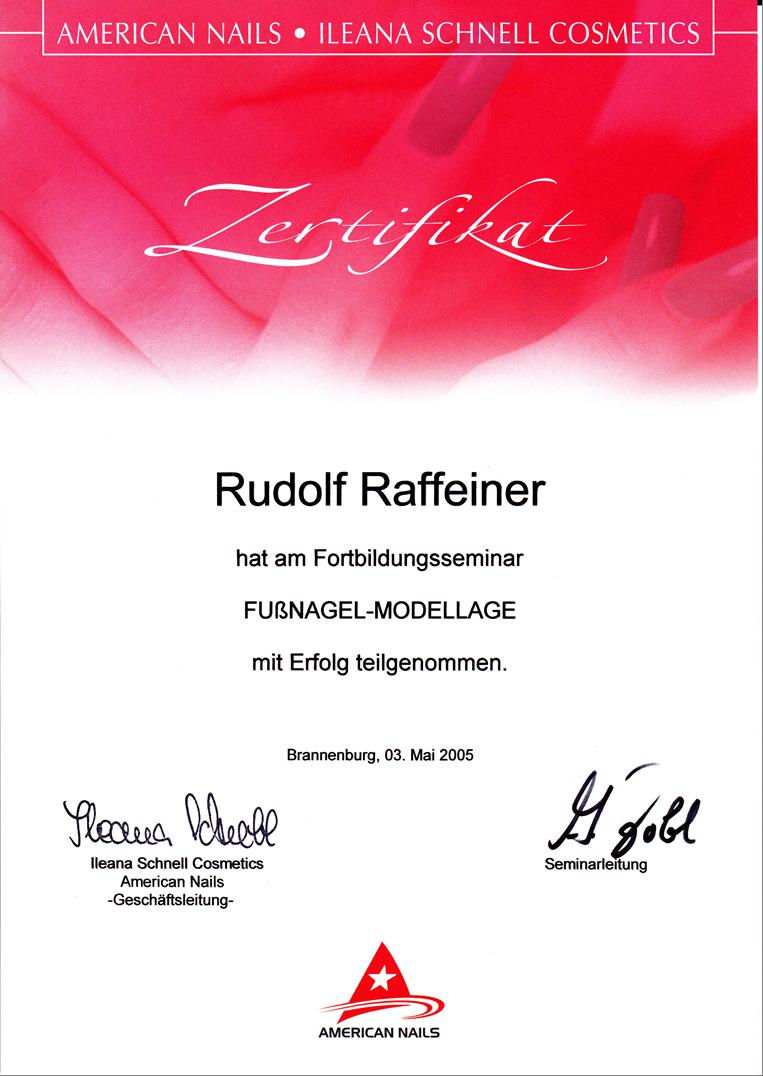 Fußnagel Modellage Dekret Rudy RGR