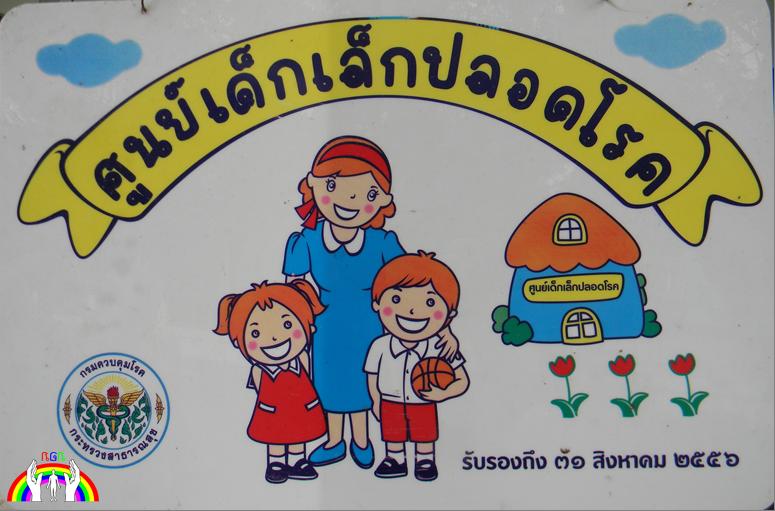 Kindergarten Schild Ban Muang Kay RGR