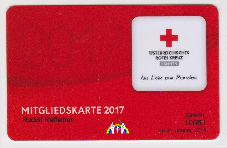 Member Card Rudy 2017 RGR