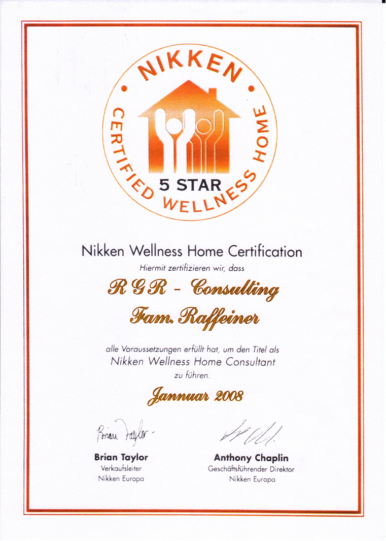 Nikken Wellness Home Dekret RGR