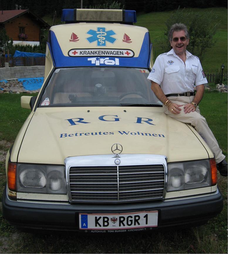 Rudy mit dem Betriebseigenen KTW von RGR