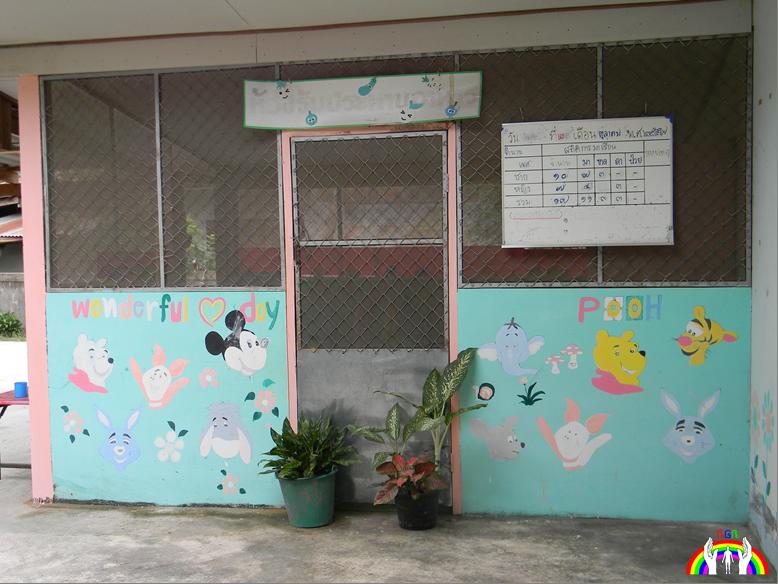Wandmalerei Kinderkunst RGR