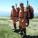 14 Rudy & Gery auf Gerlitzen vor Bergmönch Abfahrt RGR