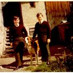 19 Rudy & Gery auf Obstplantage bei O. Franz RGR
