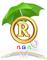 Der Schutzschirm des Namens RGR