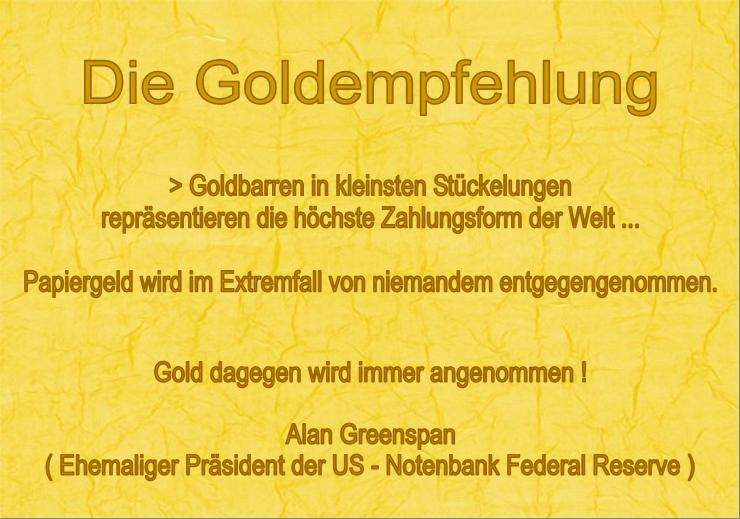 Die Goldempfehlung von Greenspan für RGR