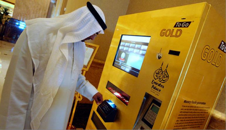 Gold To Go Automat in den Emiraten Quellfoto für RGR