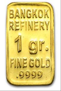 Goldbarren Bangkok Quellfoto für RGR