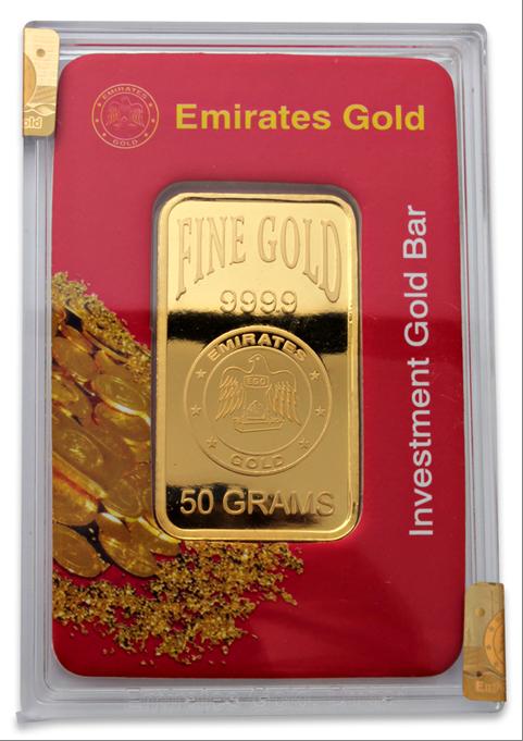 Goldbarren der Emirate Quellfoto für RGR