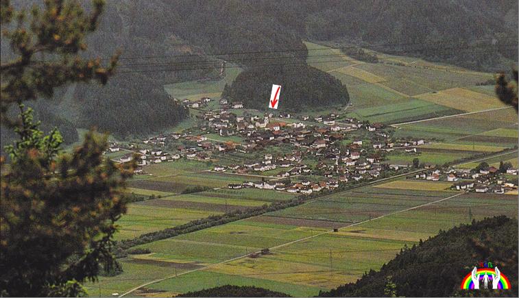 Luftbild Hatting mit 1. Wohnhaus RGR