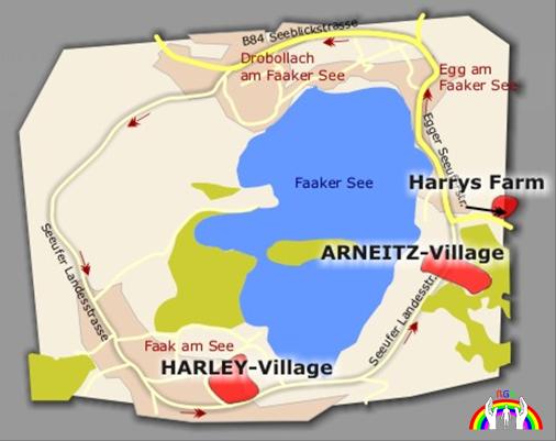 Maps Rundstrecke um den Faakersee für RGR
