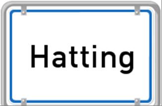Ortschild Hatting i T für RGR