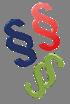 Paragraphen Logo in den Farben von RGR