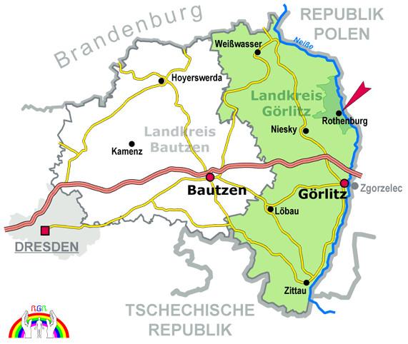 Rothenburg Görlitz Karte für RGR
