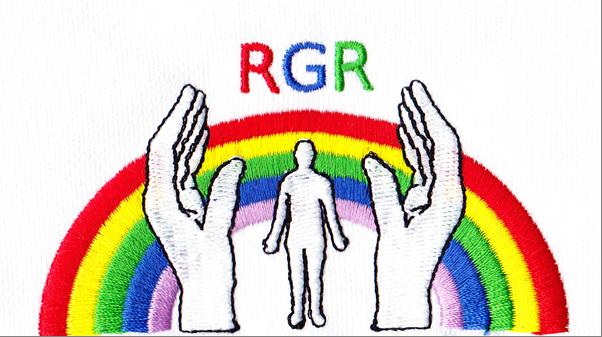 Stickerei Entwurf Deutsche Schrift Logo RGR